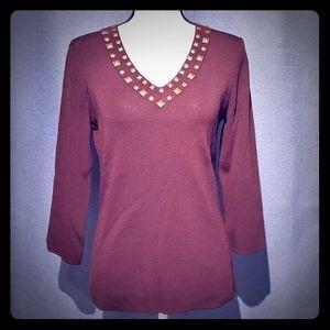 **5/25** Women's Cable & Gauge Brown Sweater